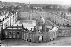 Potsdam, Stadtschloss mit Fortunaportal vom Turm der Nikolaikirche