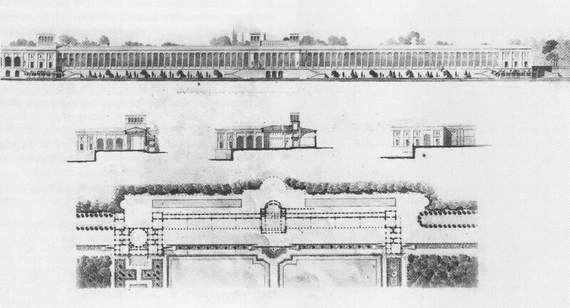 Grundriss, Aufriss, Orangerieschloss, Potsdam