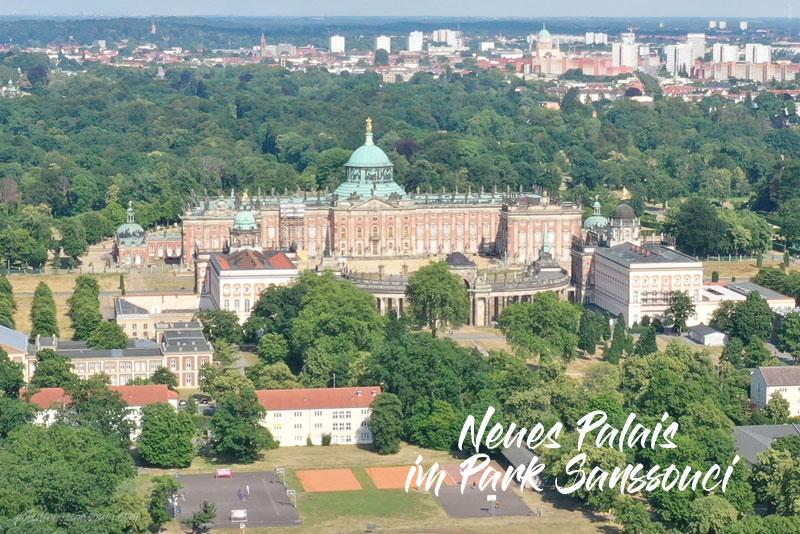 Neues Palais, Park Sanssouci, Sanssouci, Park, Luftbild